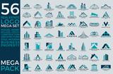 Mega Set and Big Group, Real Estate, Building and Construction Logo Vector Design Eps 10