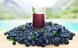 Succo di mirtillo biologico e sano di montagna