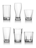 Glasses for beer drinking in pub