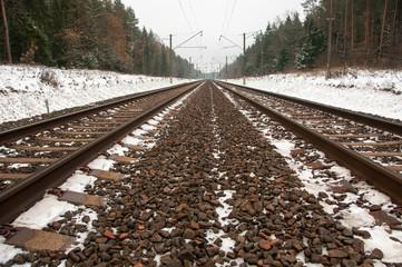 Straight railroad.