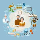 Nursing home,  social help elderly, medicine for old men