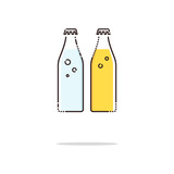 Soda water color thin line icon. Mbe minimalism style - 132753725
