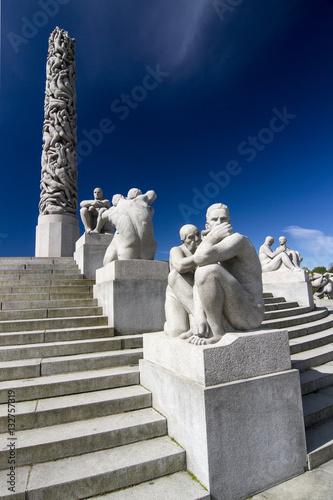 Poster Skulpturen Vigeland Park