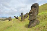 Moai statues on Easter Island   - 132760536
