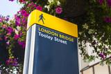 London Bridge Pedestrian Sign in London