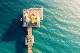 Aerial view of an ocean pier - 132781765