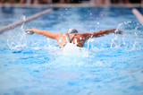 Butterfly Stroke (shallow depth of field, focus on water)