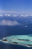 Aerial View from seaplane over Indian ocean