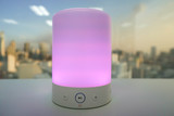 smart wireless speaker light in purple