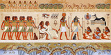 Egyptian gods and pharaohs. Ancient Egypt scene, mythology. - 132788711