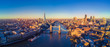 Aerial view of London and the River Thames