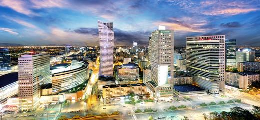 Warszawa nowoczesne wieżowce panorama