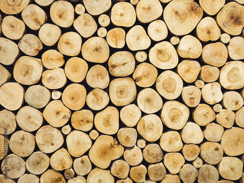 Wooden texture Annual ring Pattern Nature Background - 132804966