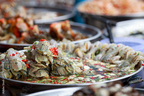 Street food dish in district of Chinatown - bangkok - Thailand