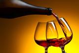 Cognac poured into a glass