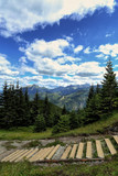 Beautiful view of the Tatras from the trail on the goose neck