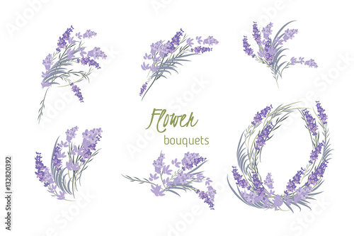 Floral lavender retro vintage background - 132820392