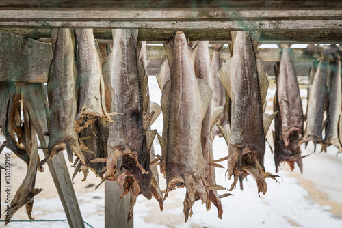 Poster Dried salmon in Norway