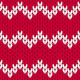 Knitted hot pink and white background pattern triangle isolated vector