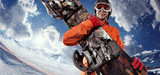 Sport background. Winter sport. Snowboarder.