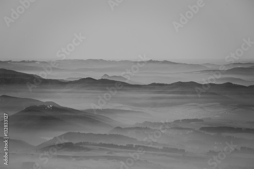 Black and white landscape - 132833127