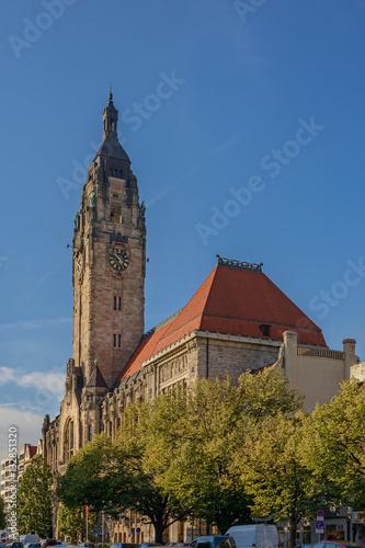 Poster Bürgerliches Machtdemonstration: das Charlottenburger Rathaus von Südosten