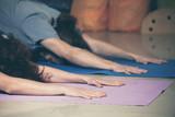 people on yoga class indoor