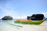 Paradise island and crystal clear water of El Nido, Palawan, Phi