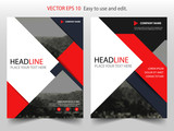Red Black Triangle Vector business proposal Leaflet Brochure Flyer template design, book cover layout design, abstract business presentation template, a4 size design