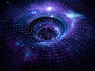 Black hole, wormhole in space