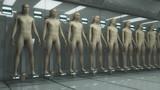 Human clones and futuristic room