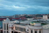 Port and city early in morning. Naples, Italy