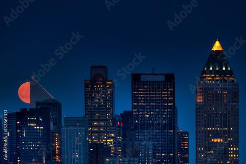 Foto op Aluminium New York NYC Moonrise