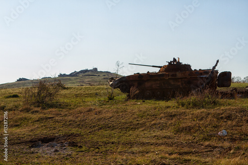Poster Ukrainian armored vehicles destroyed