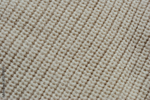 Poster Tessuto di lana incrociata color panna