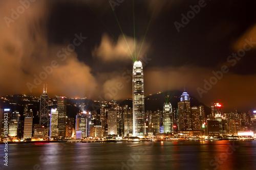 Poster Hong Kong Harbor at Night Lightshow from Kowloon