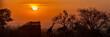Quadro African Safari Sunset Silhouette