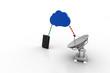 Satellite signal through cloud to  smart phone