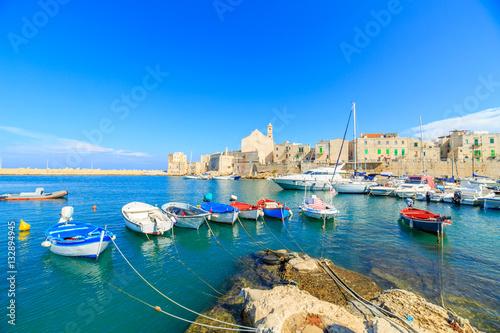 Aluminium Fishing boats in small port Giovinazzo near Bari, Apulia, Italy