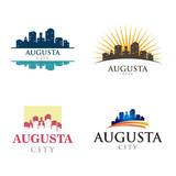 Augusta Georgia in Cityscape Skyline Silhouette Logo