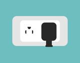 energy socket isolated icon vector illustration design