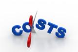 Scissor cut the word cost