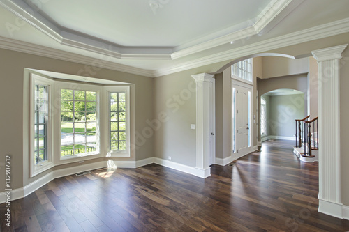 Dining room with foyer view Poster
