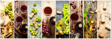 Food collage of red and white wine. - 132911556