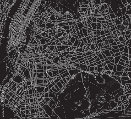 Black and white scheme of the City of New York. City Plan of New - 132924379