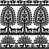 Seamless floral Polish folk art pattern Wycinanki Kurpiowskie - Kurpie Papercuts - 132932553