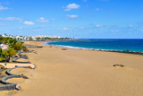 Playa de Matagorda beach in Lanzarote, Spain