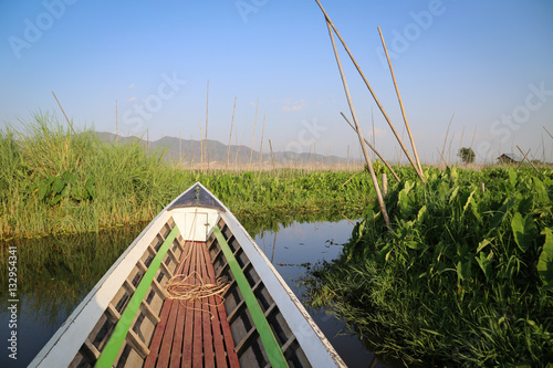 Poster View of inle lake boat tour , Burma