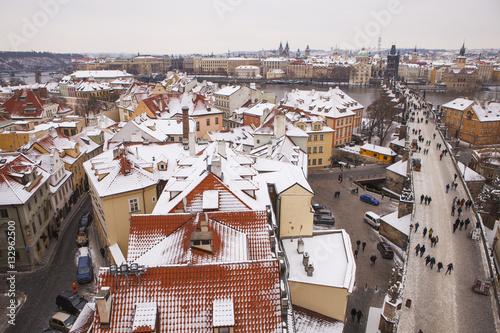 Poster Prague at winter time
