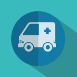 ambulance medical isolated icon vector illustration design